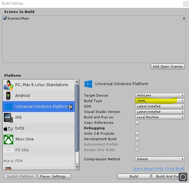 Unity Can T Add Scenes To Build Settings